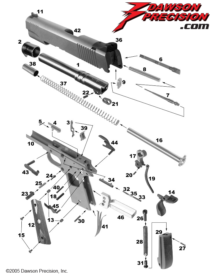 glock 22 exploded diagram pioneer wiring remote 1911 view