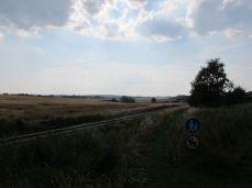 Landskabet i eftermiddagssolen