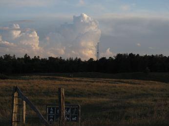 Ved Heatherhill - en anden stor samling cumulonimbusser