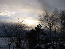 Den smukke himmel lokkede mig ud trods dyb sne