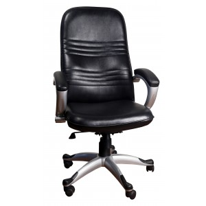 revolving chair in surat black and white rocking cushions daxesh furniture online mall home office boss df 1046