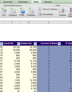Apple mac ms excel column header selection using filters also creating  row for sorting dax on data rh daxondata