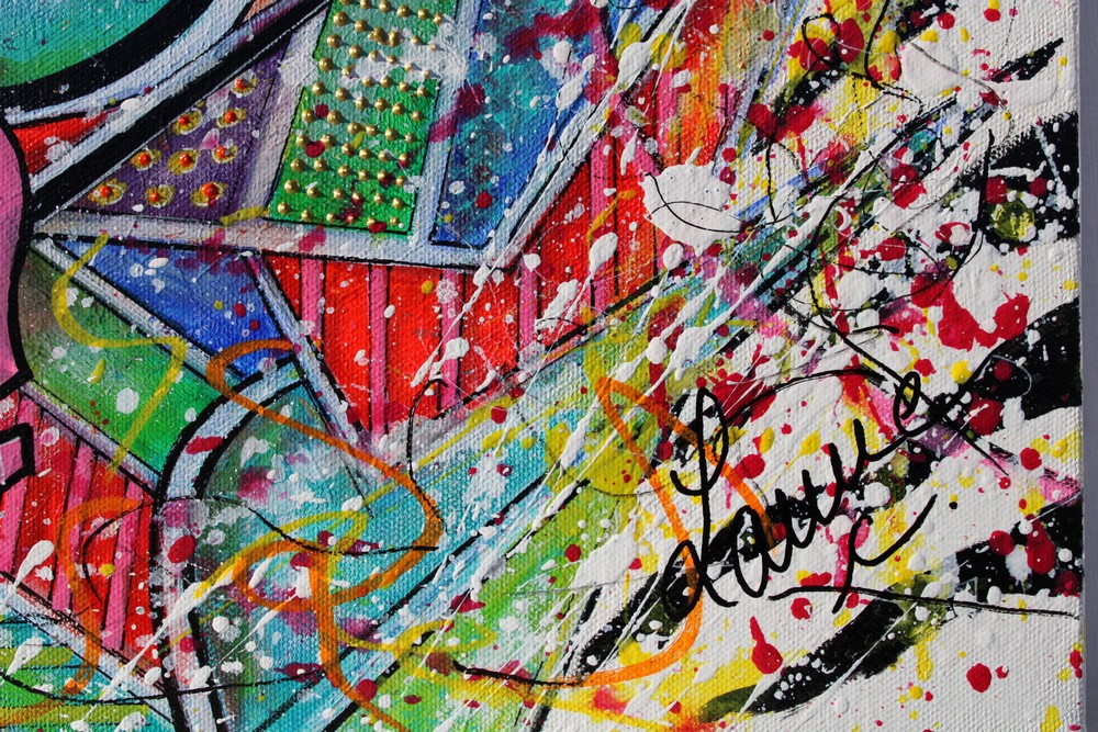 art contemporain peinture colorée art géométrique céline lanne peinture contemporaine tableau contemporain