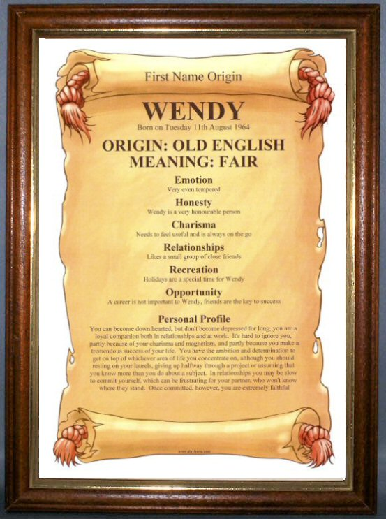 FIRST NAME ORIGIN & MEANING Certificate Personalised
