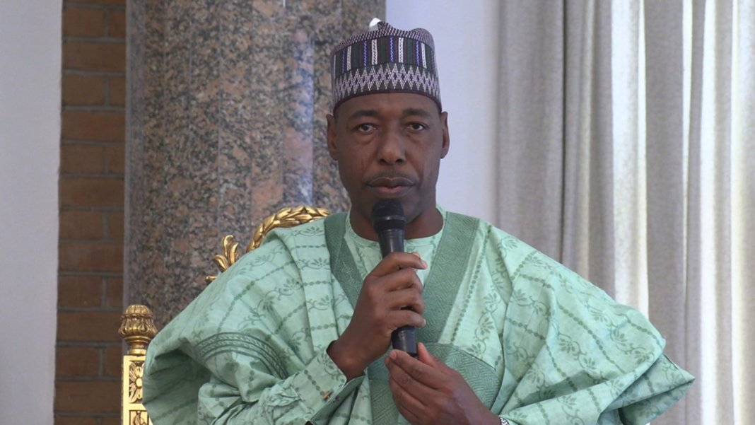 Zulum insists terrorists attack in Borno have reduced under Buhari's govt.