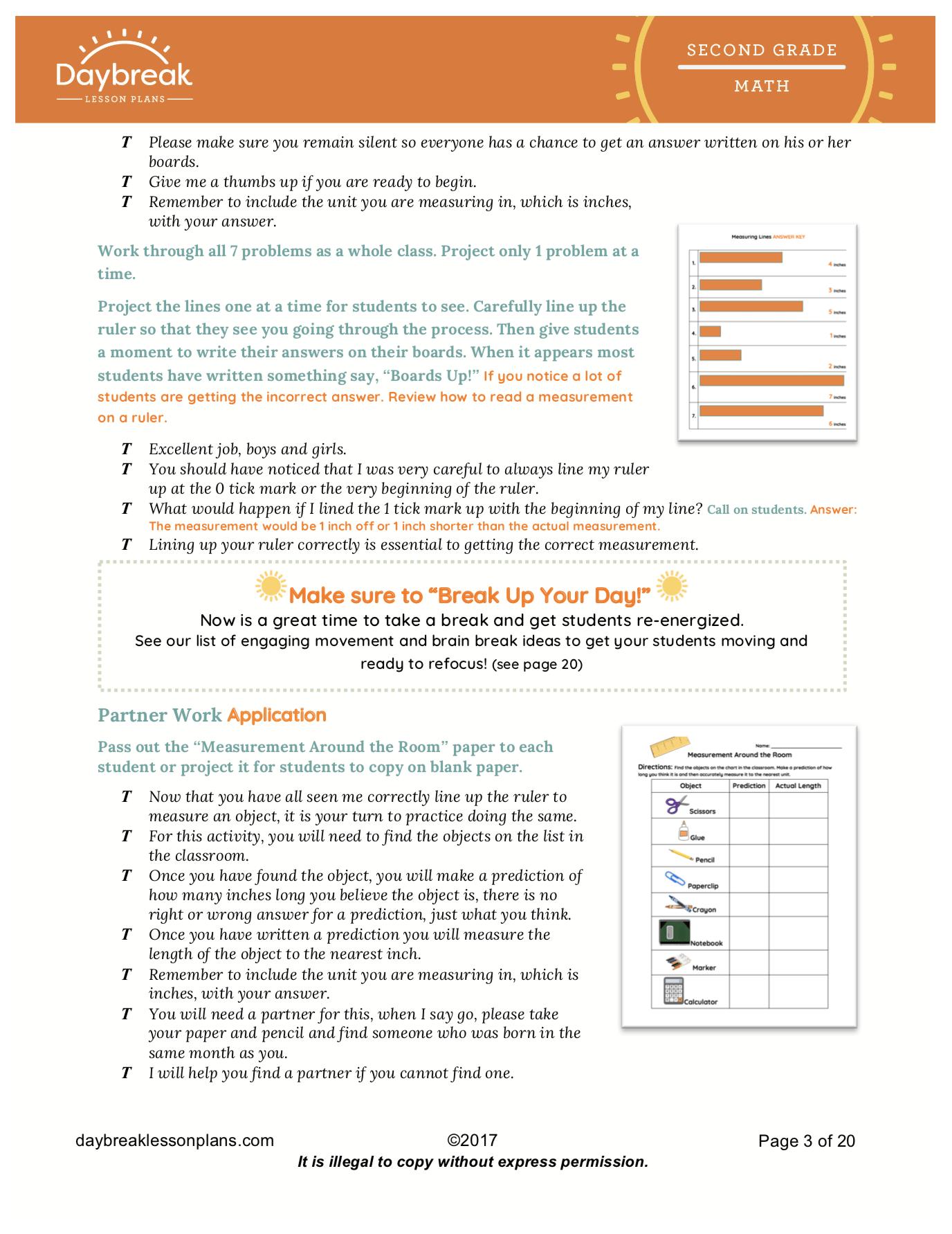 2nd Grade Lesson Plans