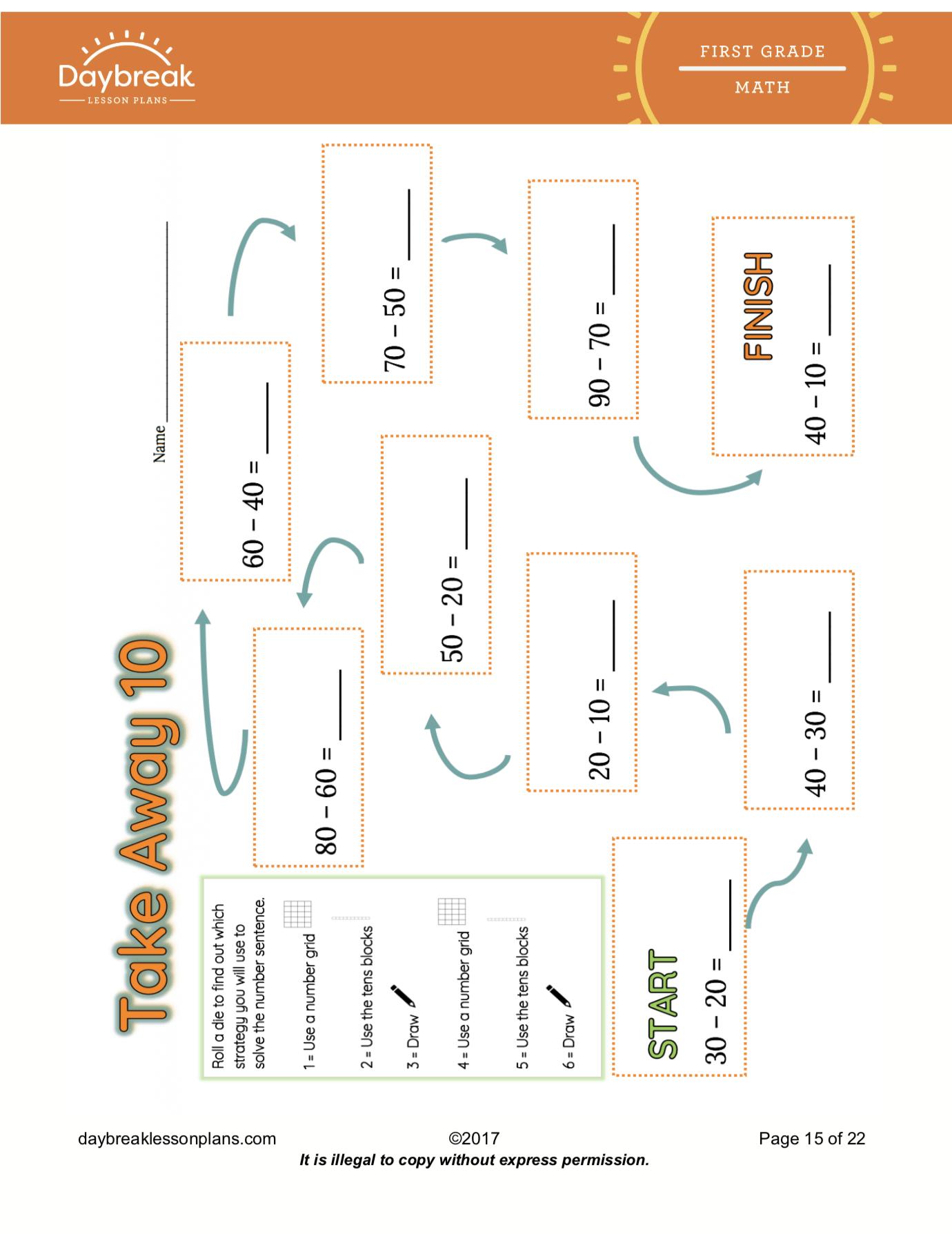 Common Core Math Lesson Plans