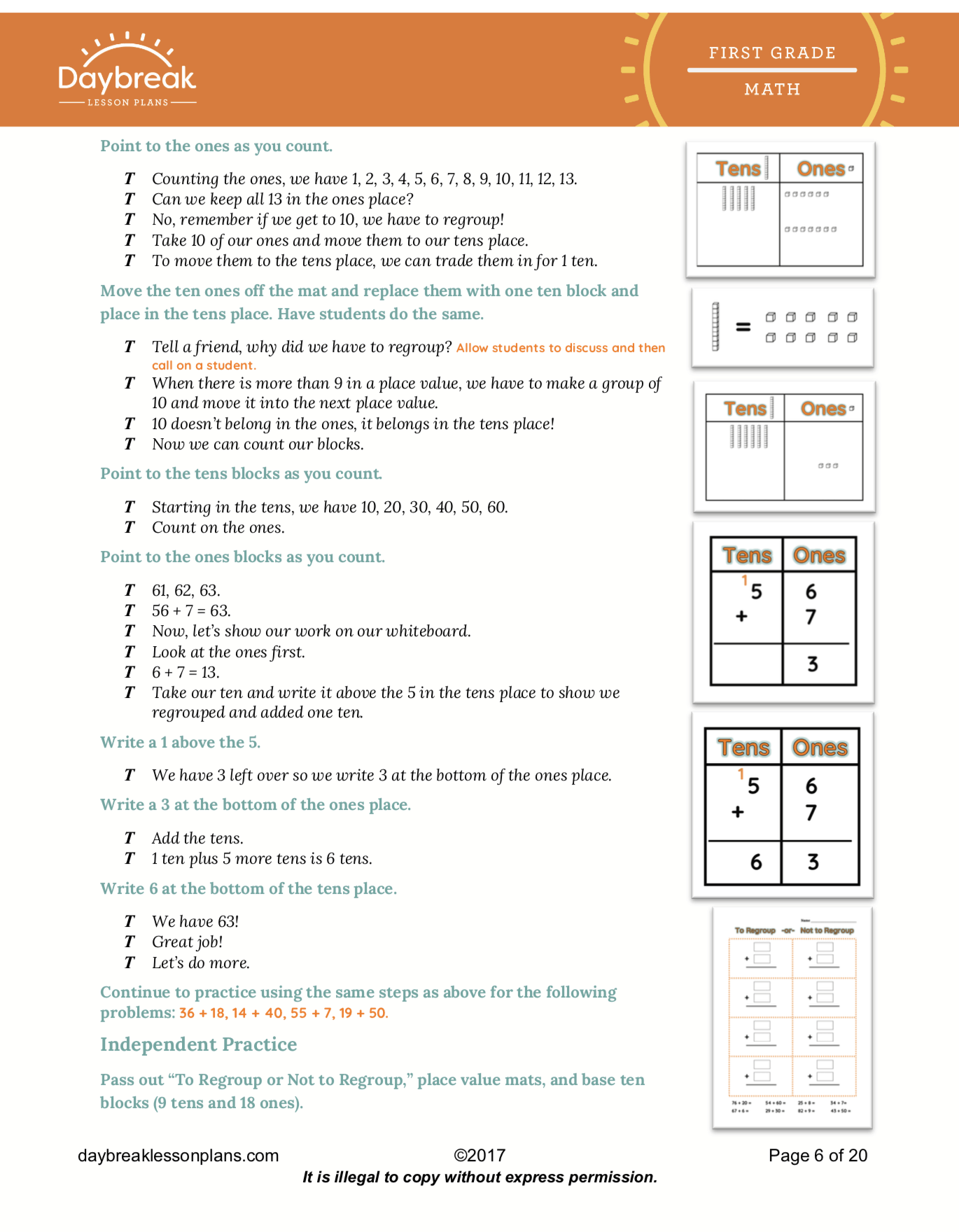 Common Core Math Lesson Plans