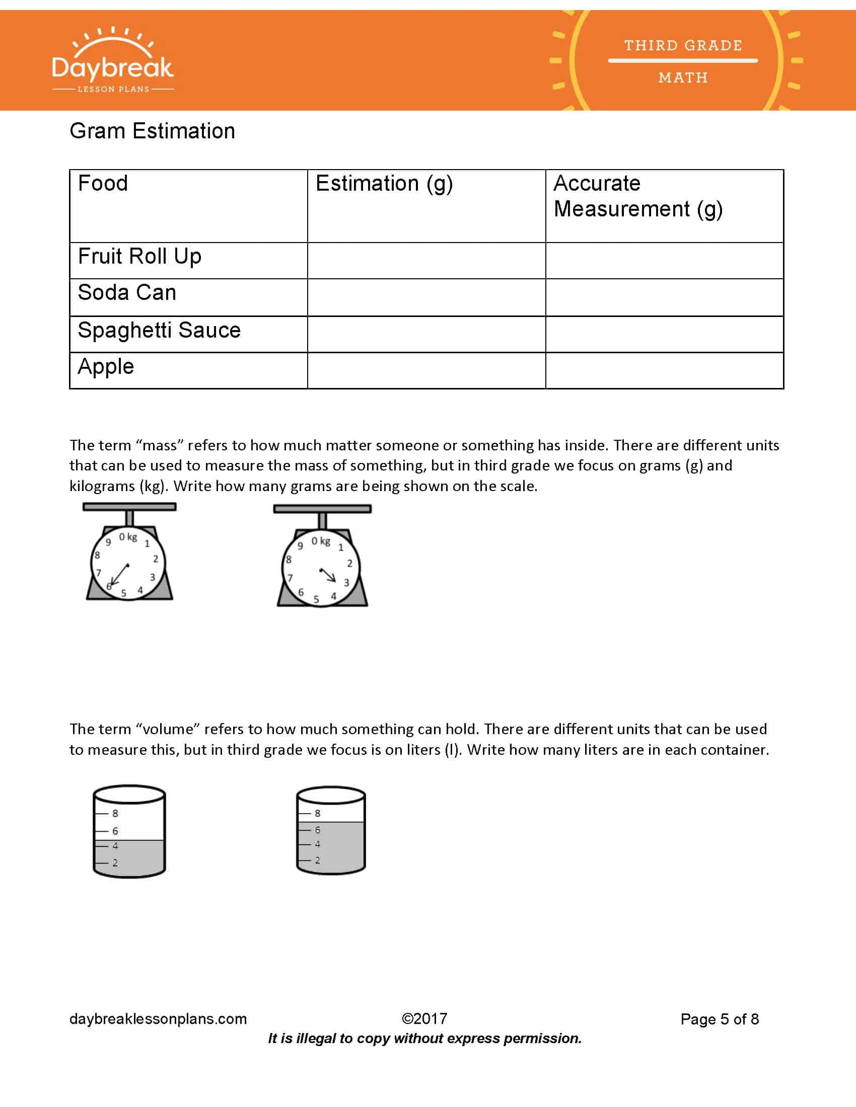 Teachers Amp Substitutes 3rd Grade Lesson Plan Template Costs