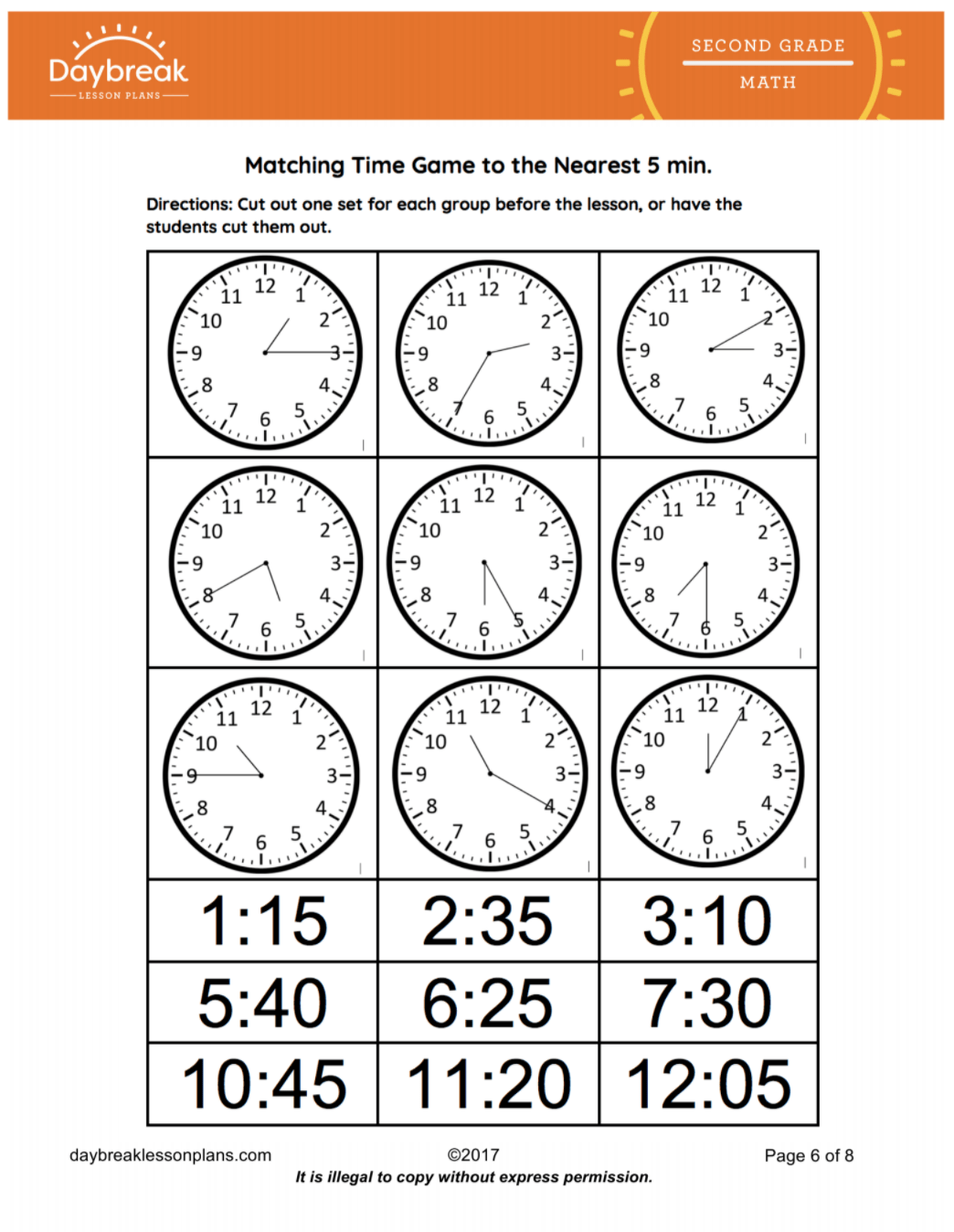 Tell And Write Time To The Nearest Five Minutes Drawing