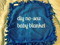 diy no-sew baby blanket | Day-By-Day Masterpiece