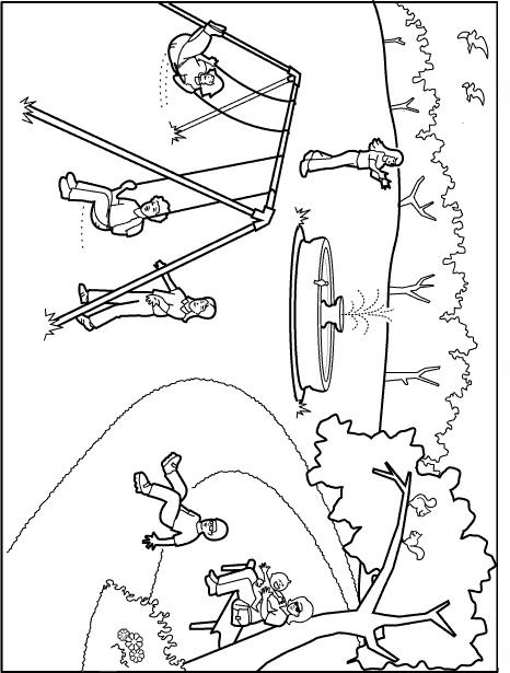 Free playground safety coloring pages