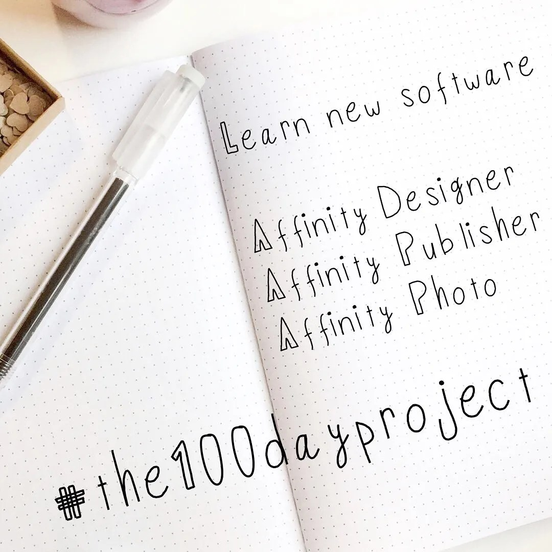 Learn new software. Affinity Designer, Affinity Publisher, Affinity Photo. #the100dayproject. Is it time to Shop Small?