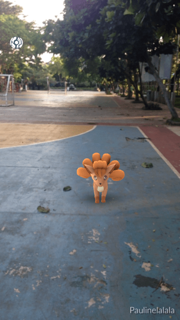 pokemon go, vulpix, taman menteng, jakarta, indonesia