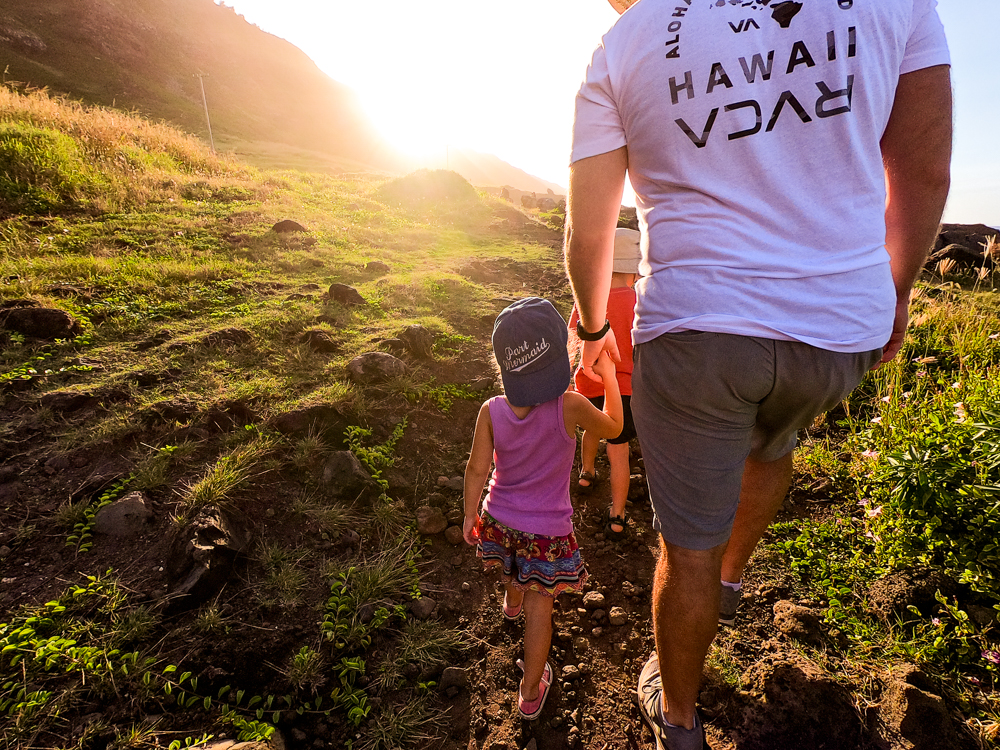 sunset hike with kids oahu hawaii family hike