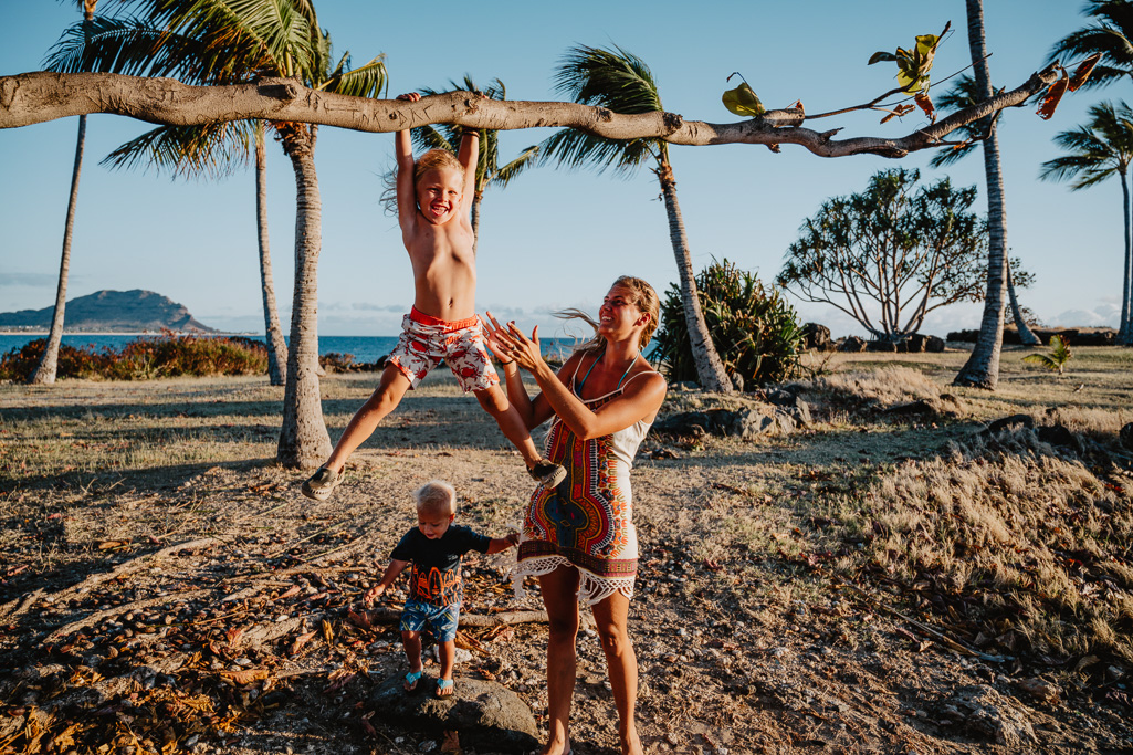 children climbing and playing documentary photography