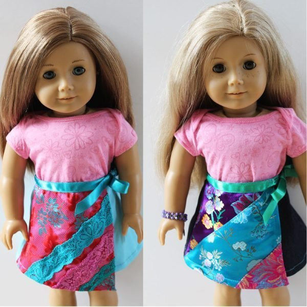 Ruby wrap skirt - doll size!
