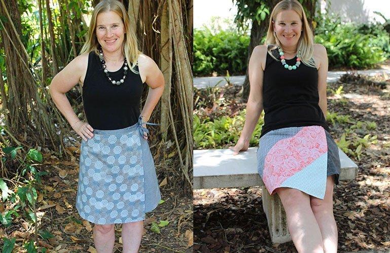 Ruby women's wrap skirt –  tester pics.