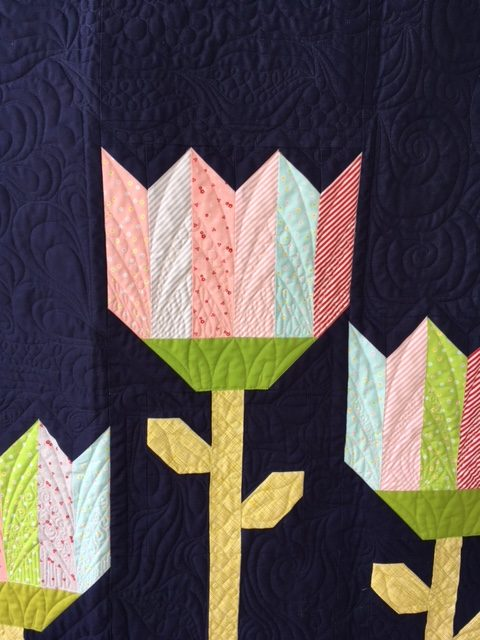 Sweet Orchard fabric in tulips