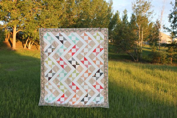 Hidden Zig Zag charm square quilt