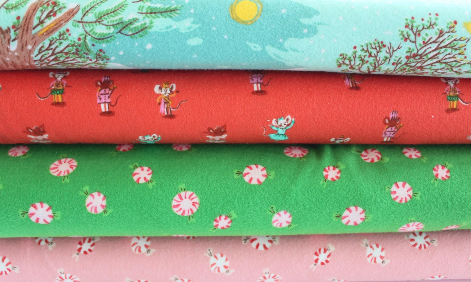 Flannel Christmas fabric