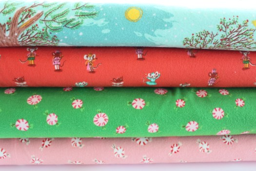 Flannel Christmas fabric