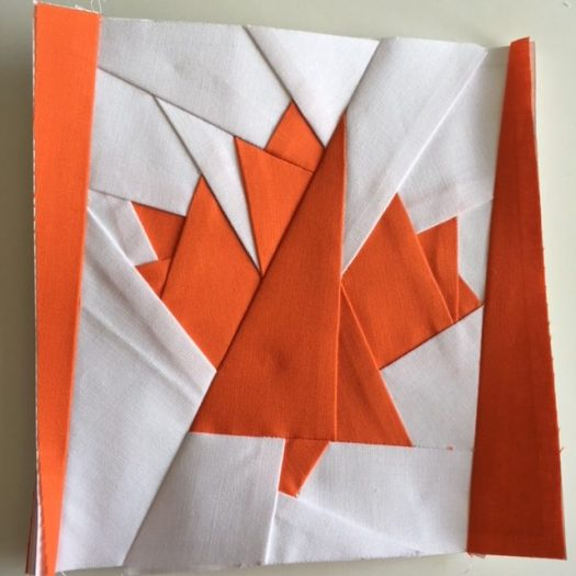 Foundation Paper Pieced Maple Leaf Quilt Block