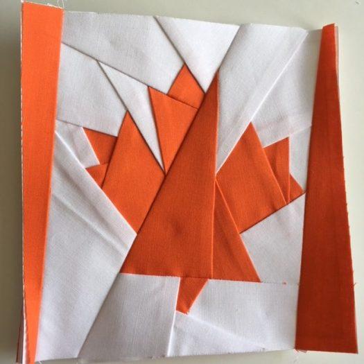 Foundation Paper Pieced Maple Leaf Quilt Block