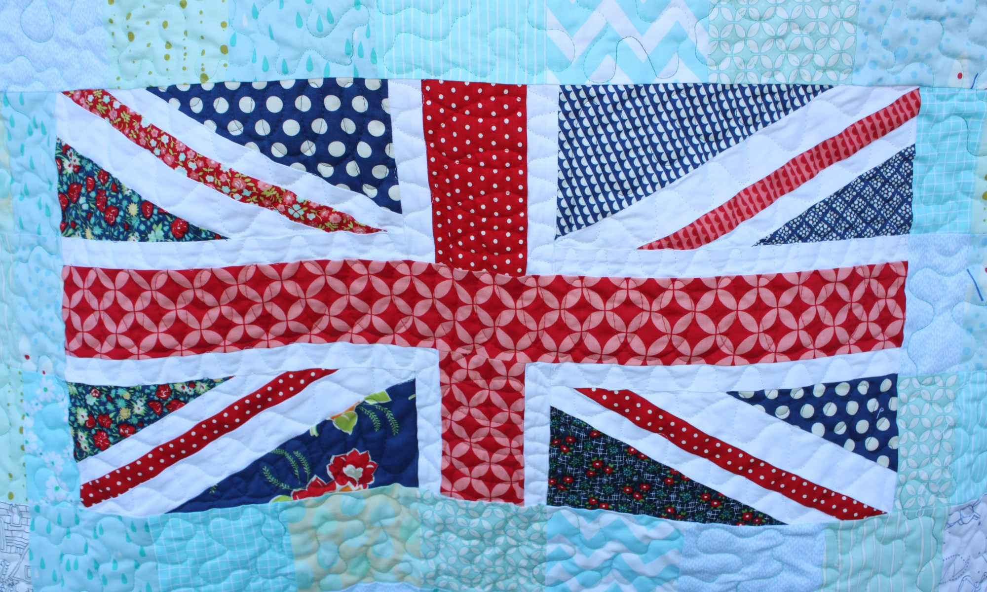 Quilted Union Jack Flag