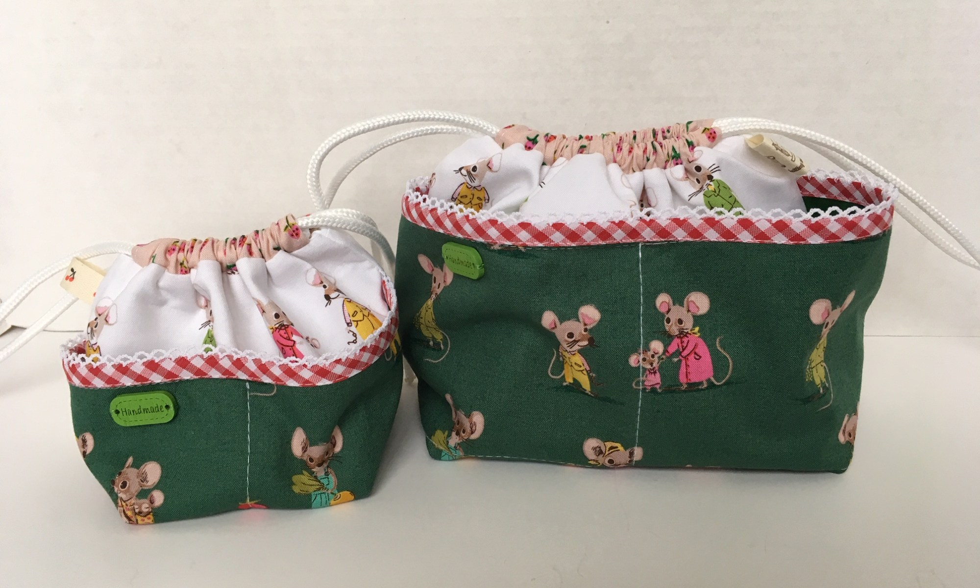 Weebraw bags made by Daydreams of Quilts