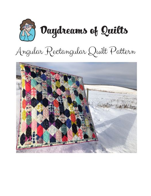 Angular Rectangular quilt pattern cover.