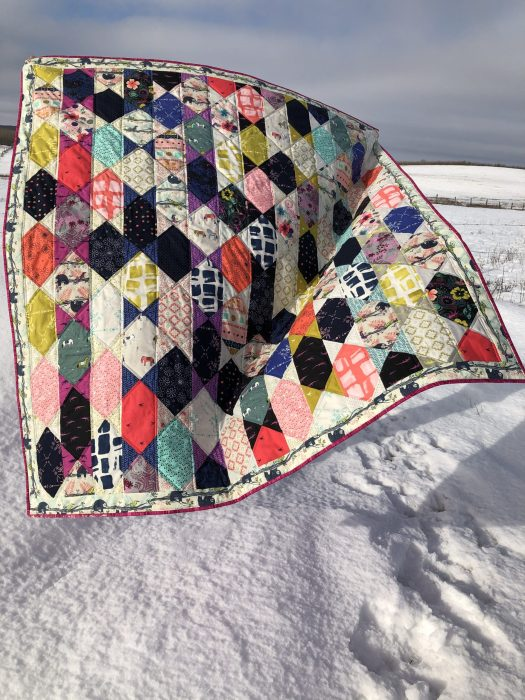 Angular Rectangular layer cake quilt pattern by Daydreams of Quilts.