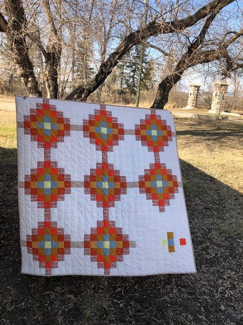 The new Glitched on Loading Quilt designed by Anita LaHay of Daydreams of Quilts.