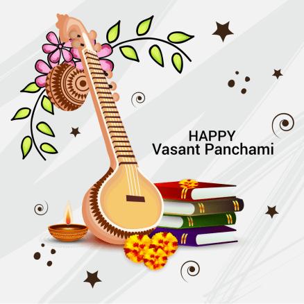 Banner for Happy Vasant Panchami