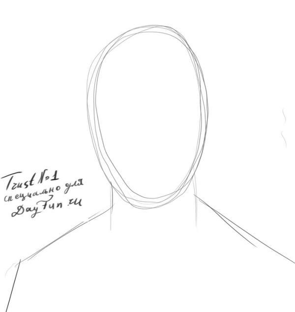 -нарисовать-Гарри-Поттера-карандашом-поэтапно-1 Как нарисовать гарри поттера поэтапно. Учимся рисовать людей