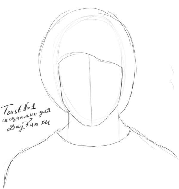 -нарисовать-Гарри-Поттера-карандашом-поэтапно-2 Как нарисовать гарри поттера поэтапно. Учимся рисовать людей
