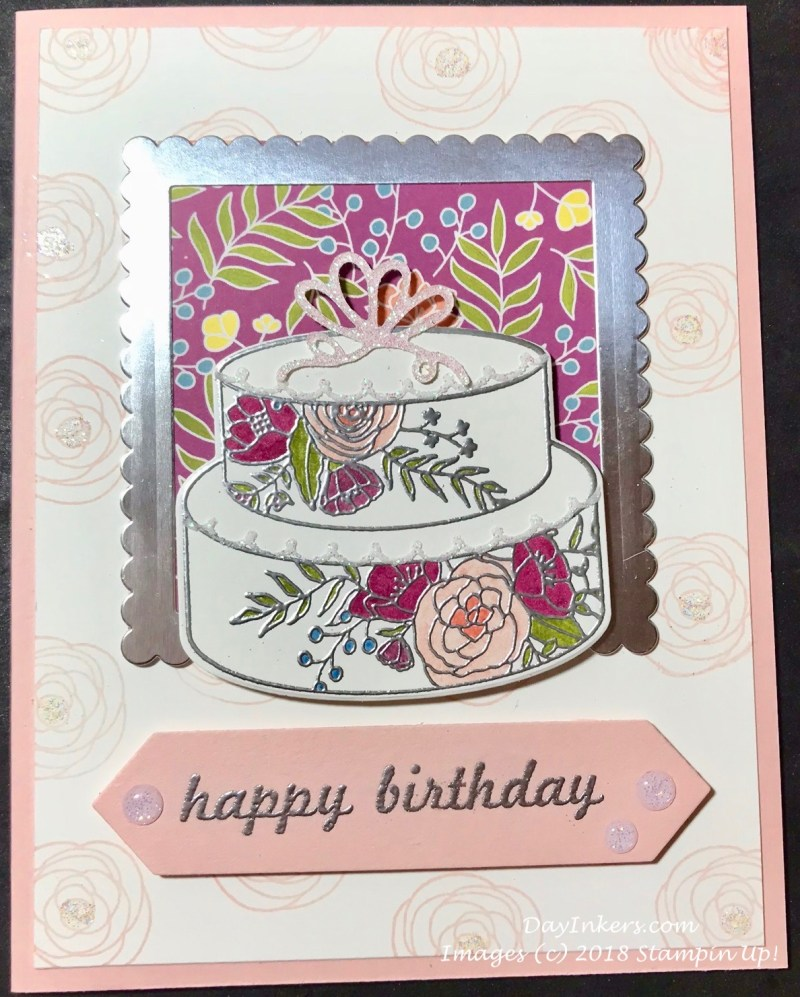 Cake Soiree Stampin Up! Tic Tac Toe Challenge.