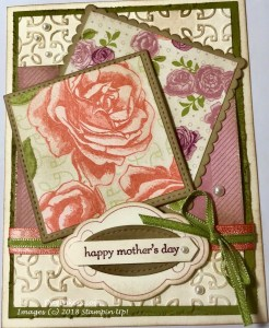 Stampin Up! Petal Garden swap
