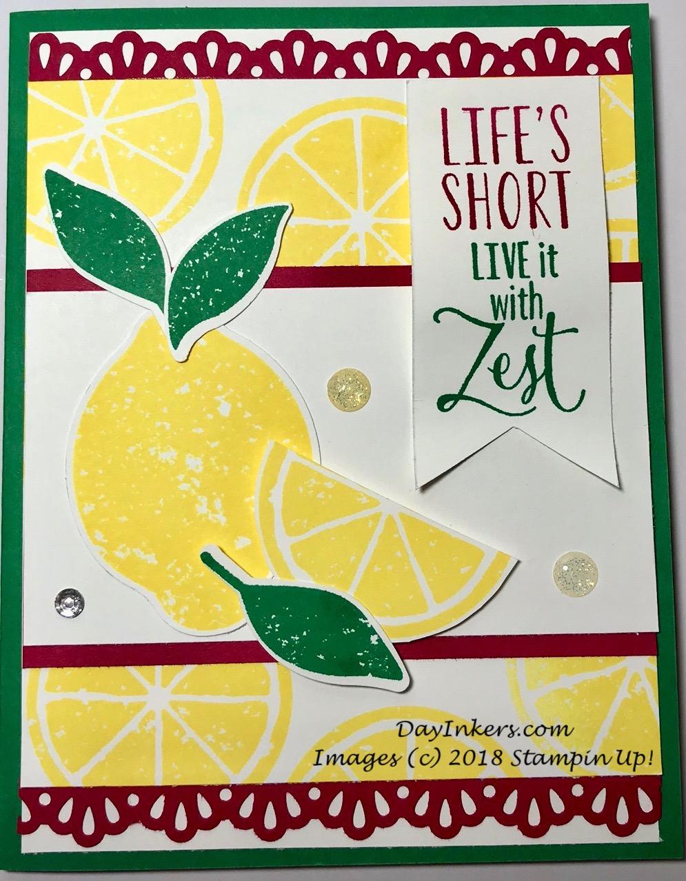 Lemon Zest Card Stampin Up