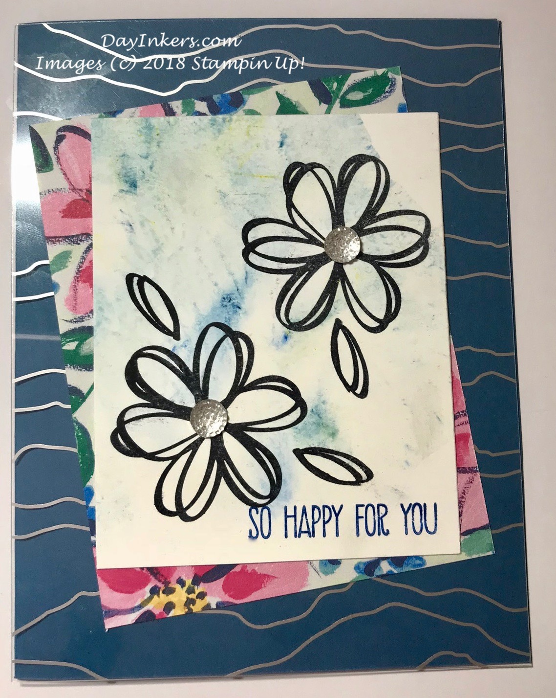 Stampin Up Acetate overlay with Sunshine Sayings
