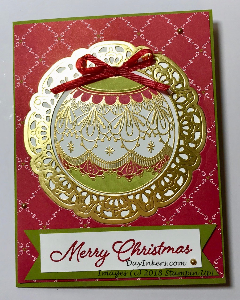 Stampin Up Beautiful Baubles and Under the Mistletoe