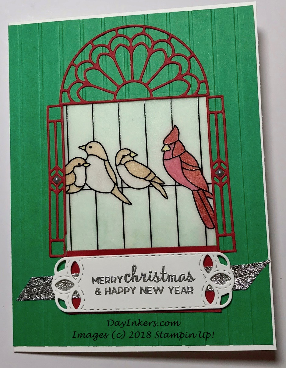 SU Painted Glass Christmas Card
