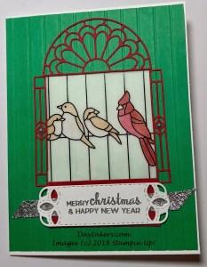 SU Painted Glass Christmas Card