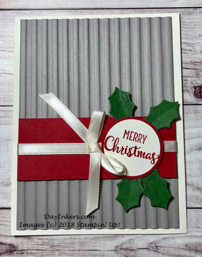 Stampin Up Corrugated Christmas