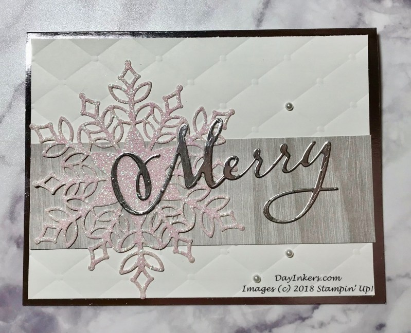 Stampin' Up! Merry Christmas to All with Tufted background