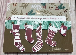 Stampin' Up! Hung with Care on the Mantle