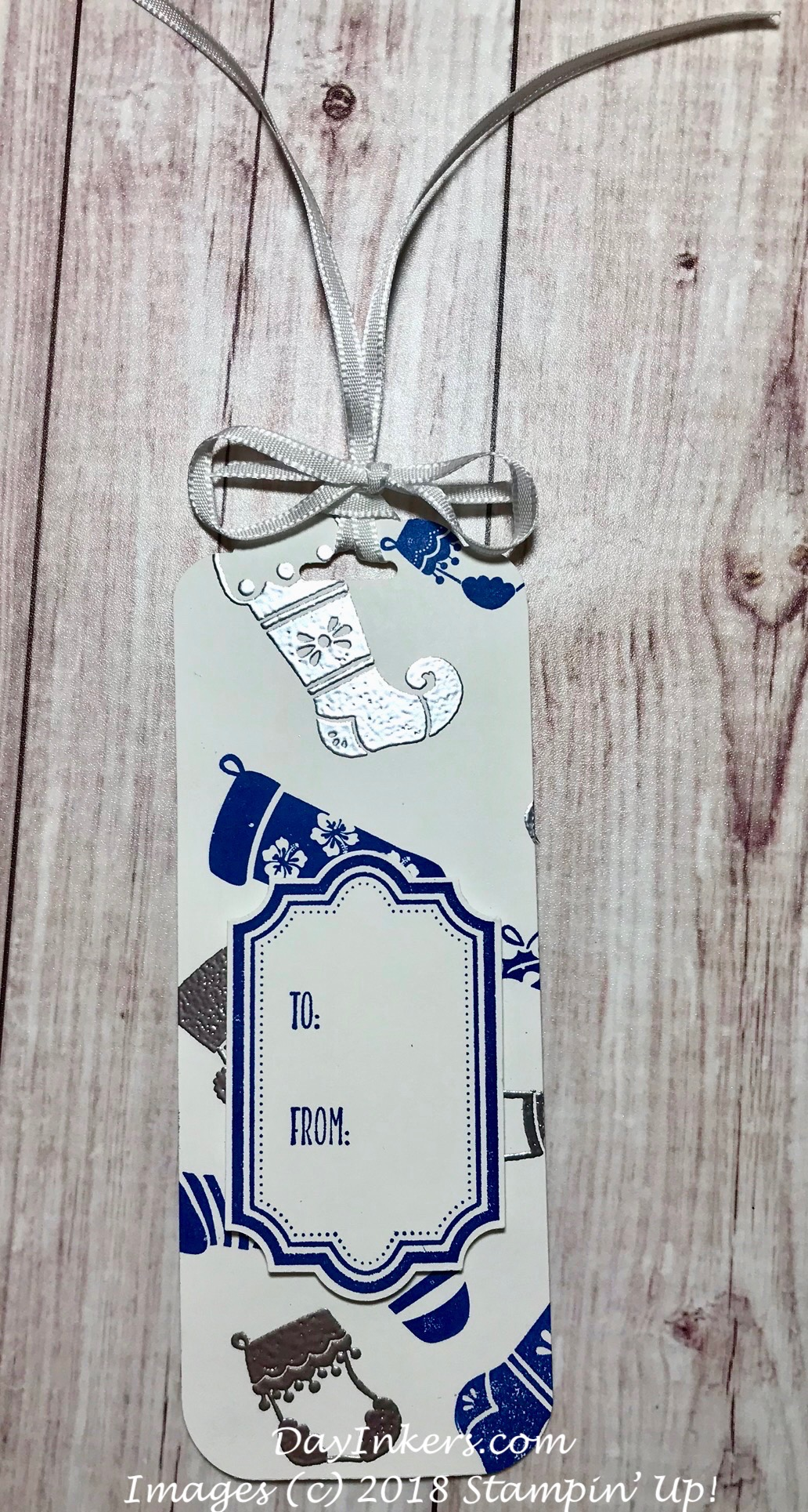 Stampin' Up! Hung with Care gift tag
