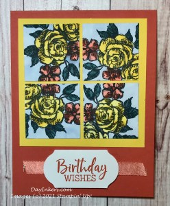 A Kaleidoscope card technique using the Fancy Phrases stamp set from Stampin' Up!