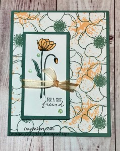Stampin' Up! Painted Poppies using Pale Papaya and Soft Succulent In-Colors