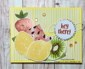 Throwback Thursday card featuring Pineapple Punch paper and Lemon Zest Lemons